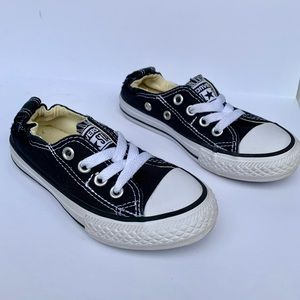 Black and White Converse Chuck Low Tops Slip On